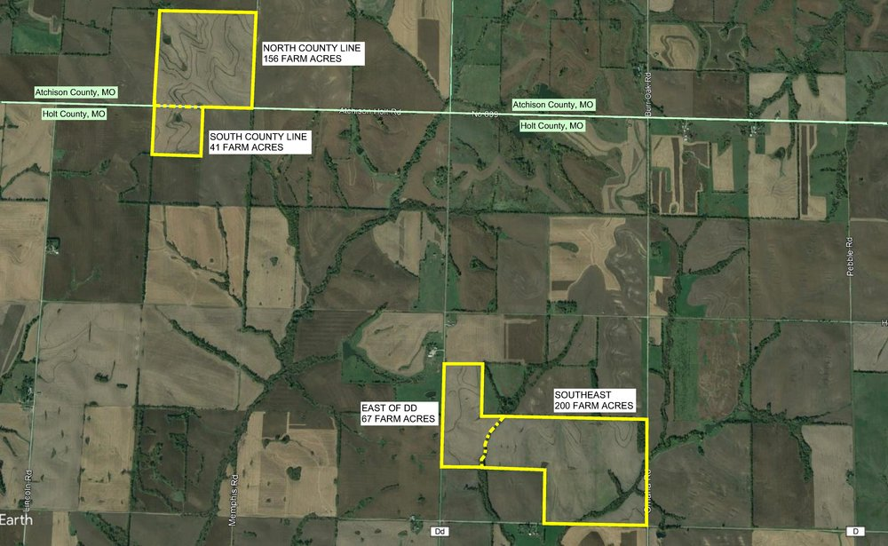 The JKM Farm consists of 464 farm acres and includes two major tracts of land.