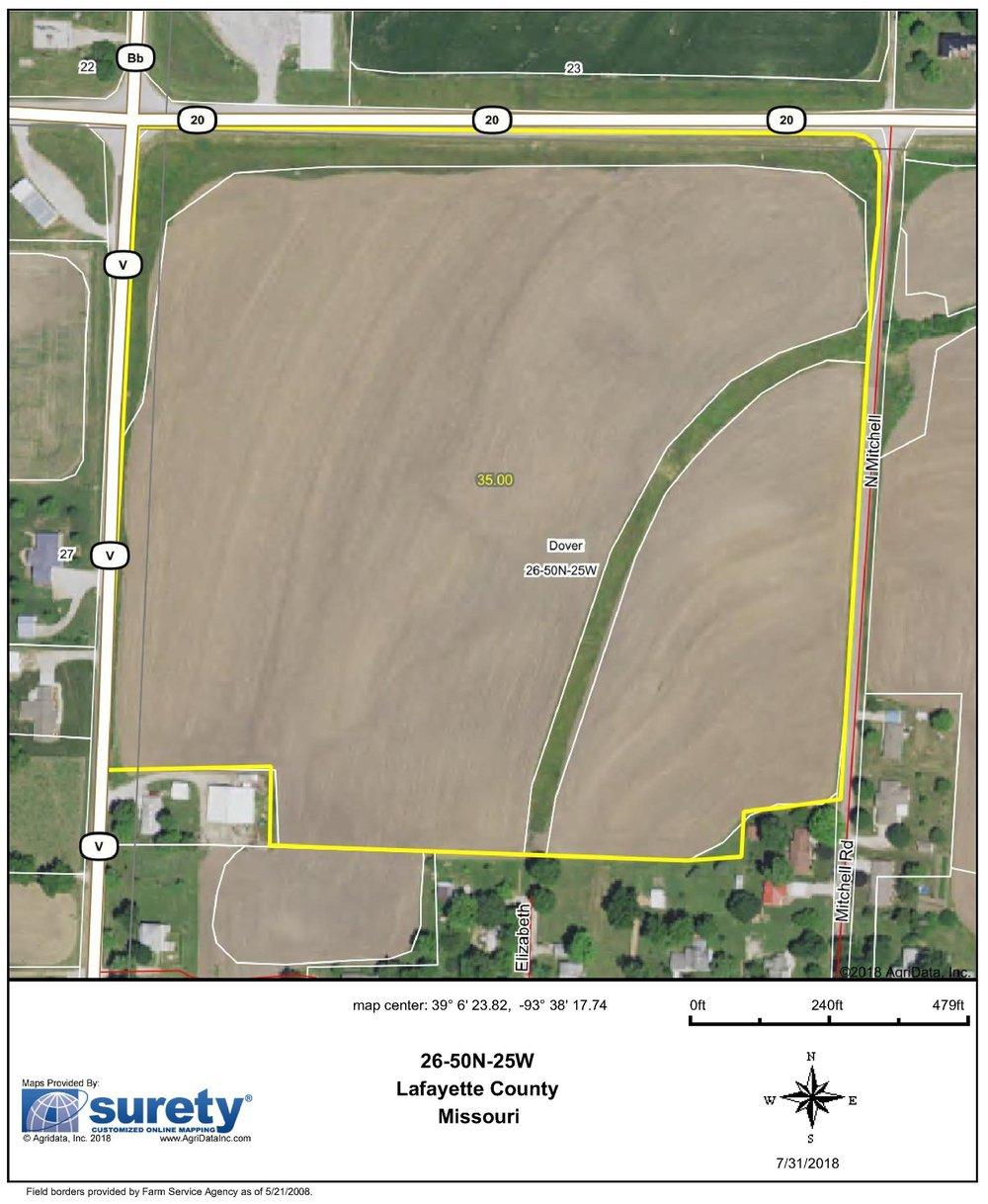 FSA Map: 35 Farm Acres