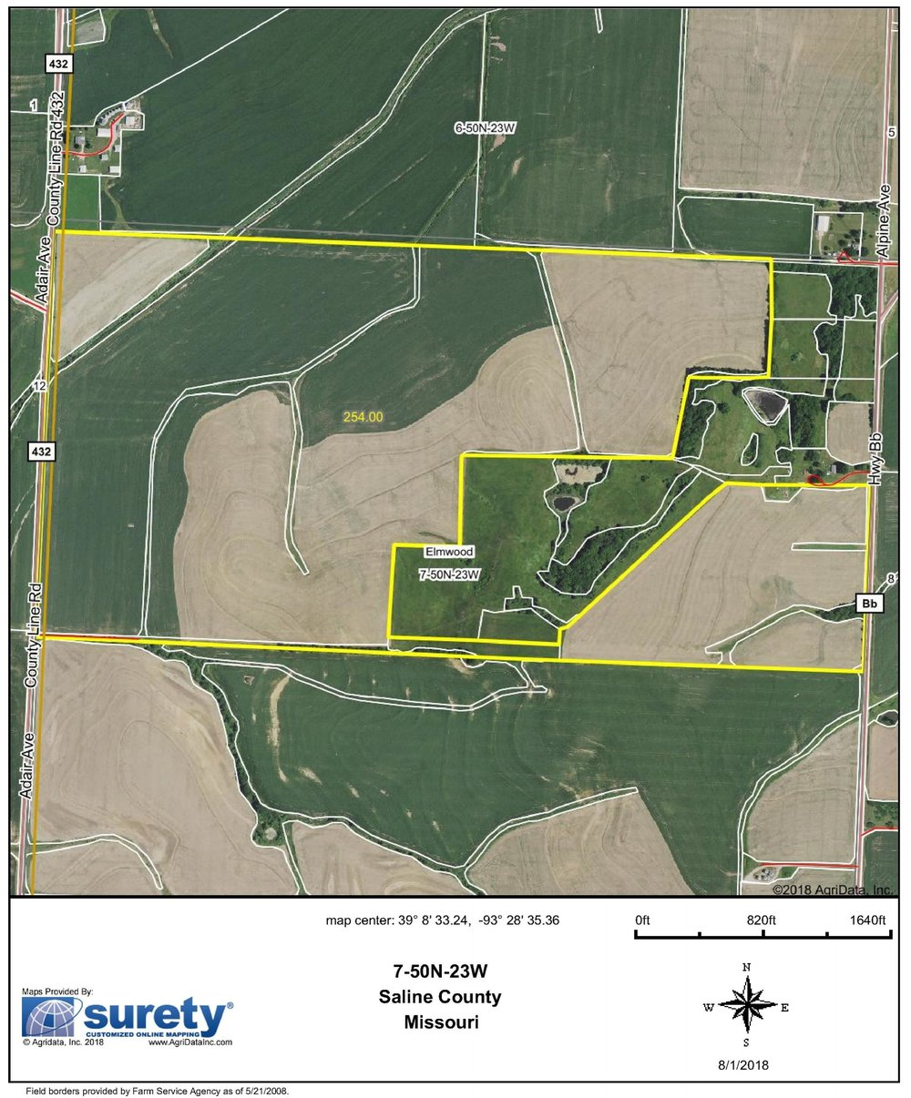 FSA Map: 254 Farm Acres