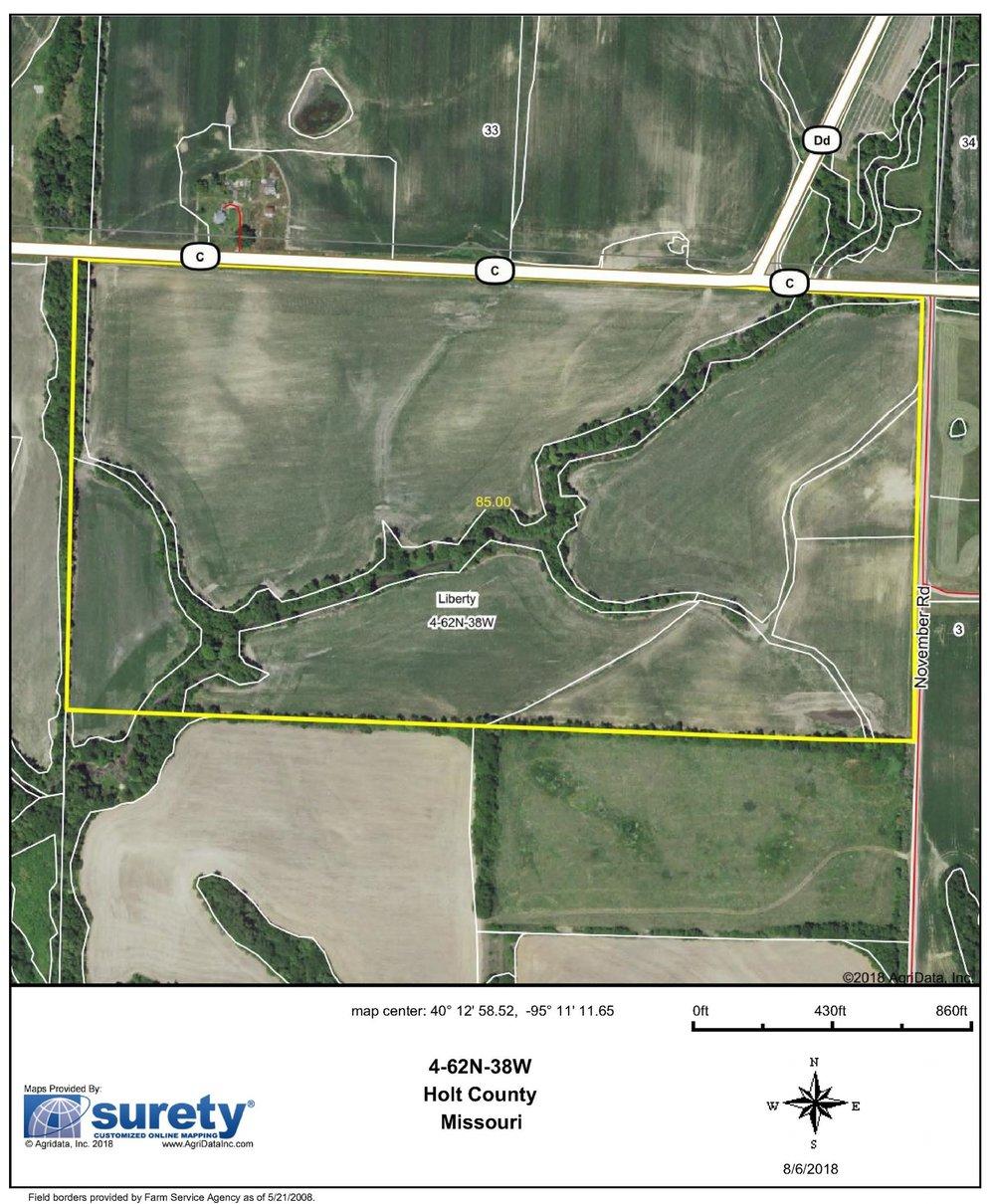 FSA Map: 85 Farm Acres