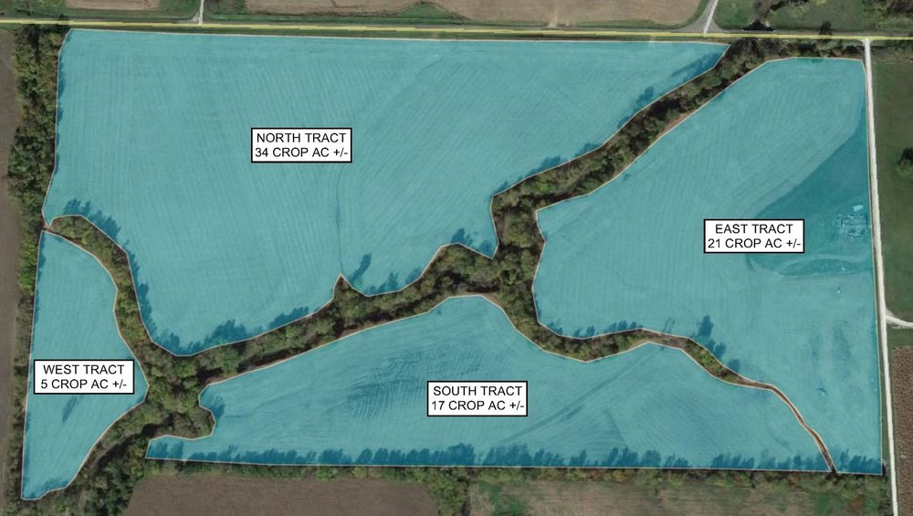 Tract Map: 74 Crop Acres