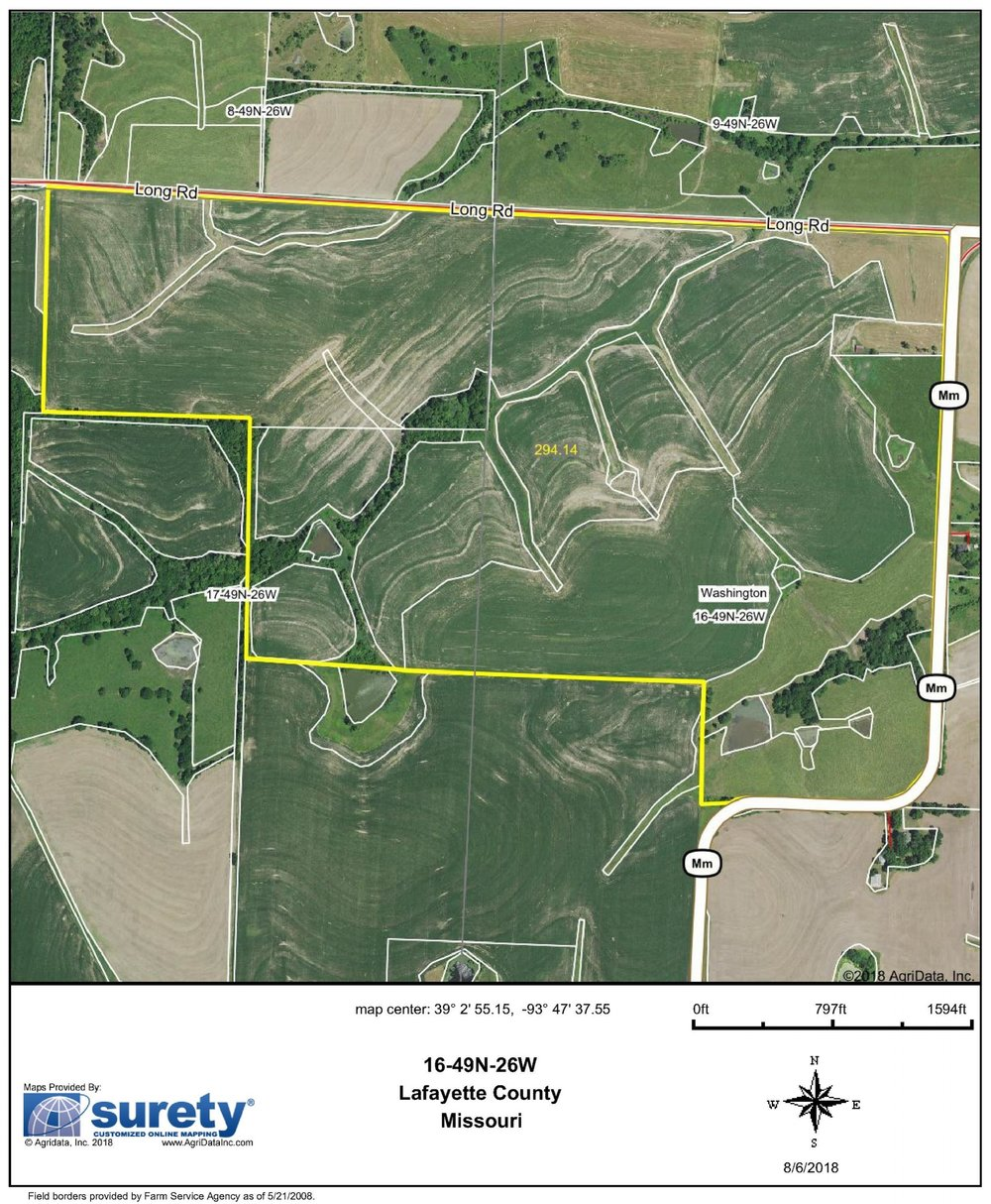 FSA Map: 294 Farm Acres