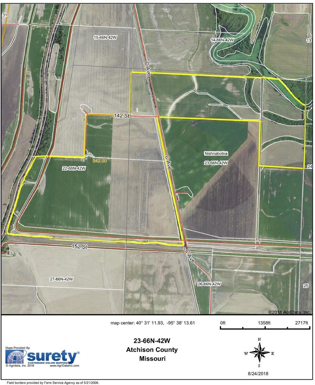 FSA Map: 542 Farm Acres