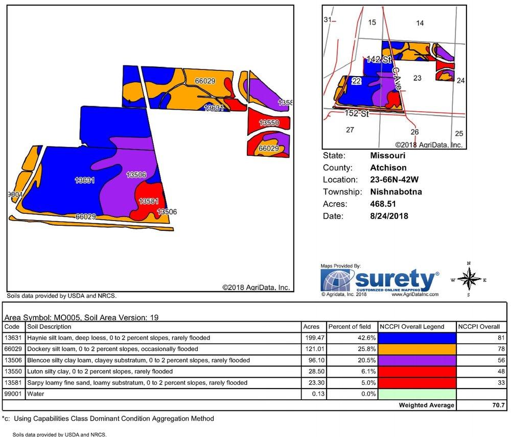 Soil Map: 468 Crop Acres