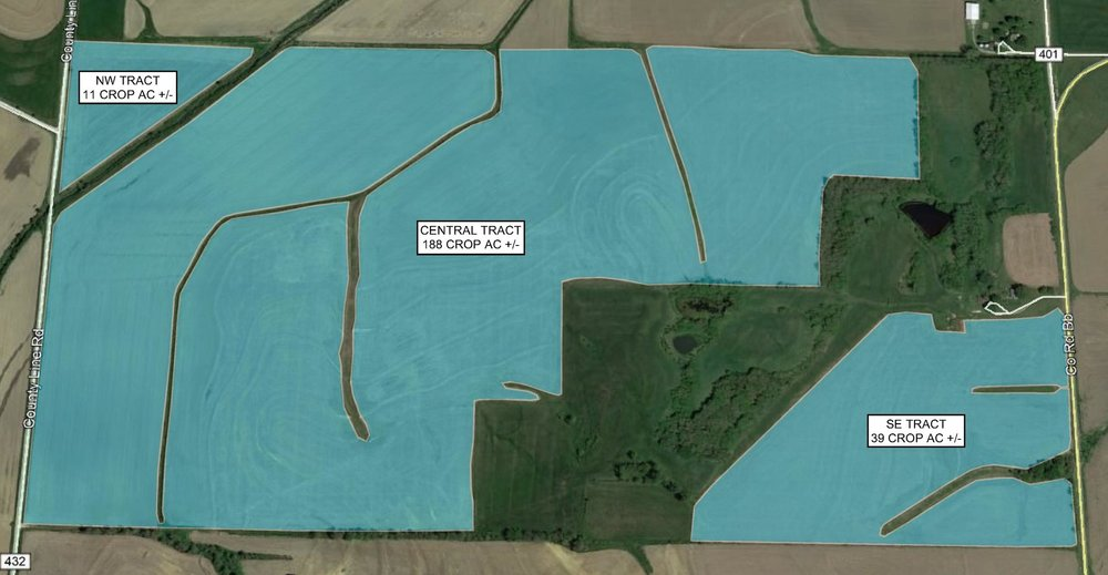 Tract Map: 238 Crop Acres