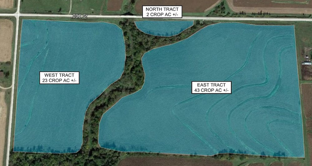 Tract Map: 68 Crop Acres