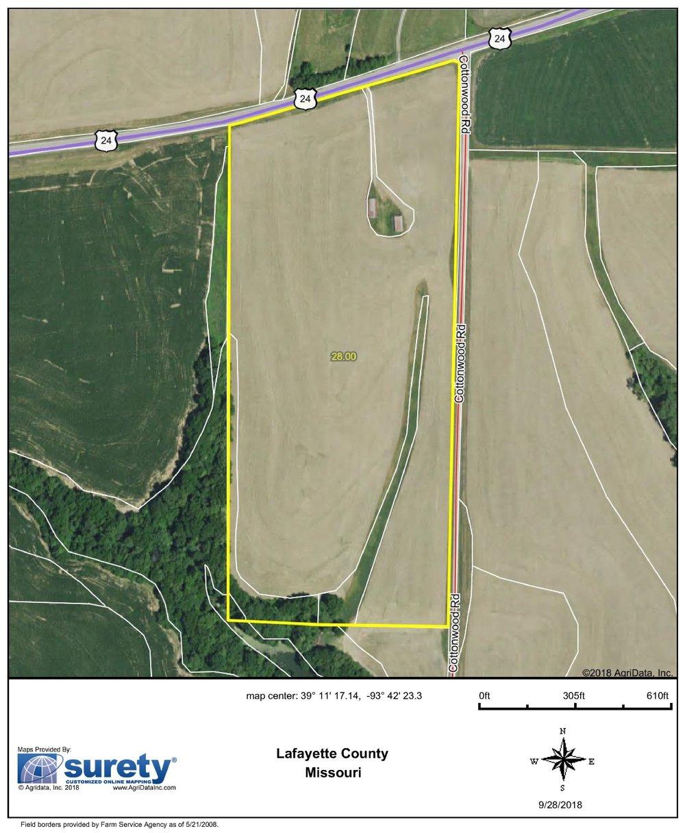FSA Map: 28 Farm Acres