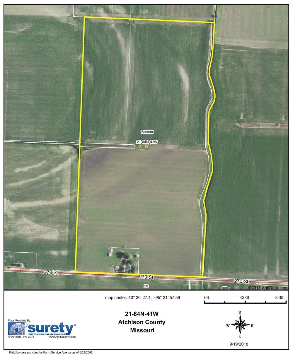 FSA Map: 81 Farm Acres