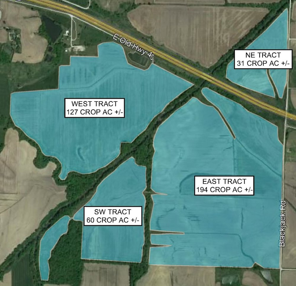 Tract Map: 412 Crop Acres