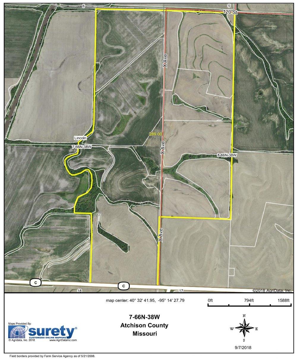 FSA Map: 289 Farm Acres