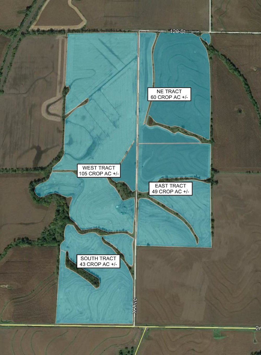 Tract Map: 257 Crop Acres