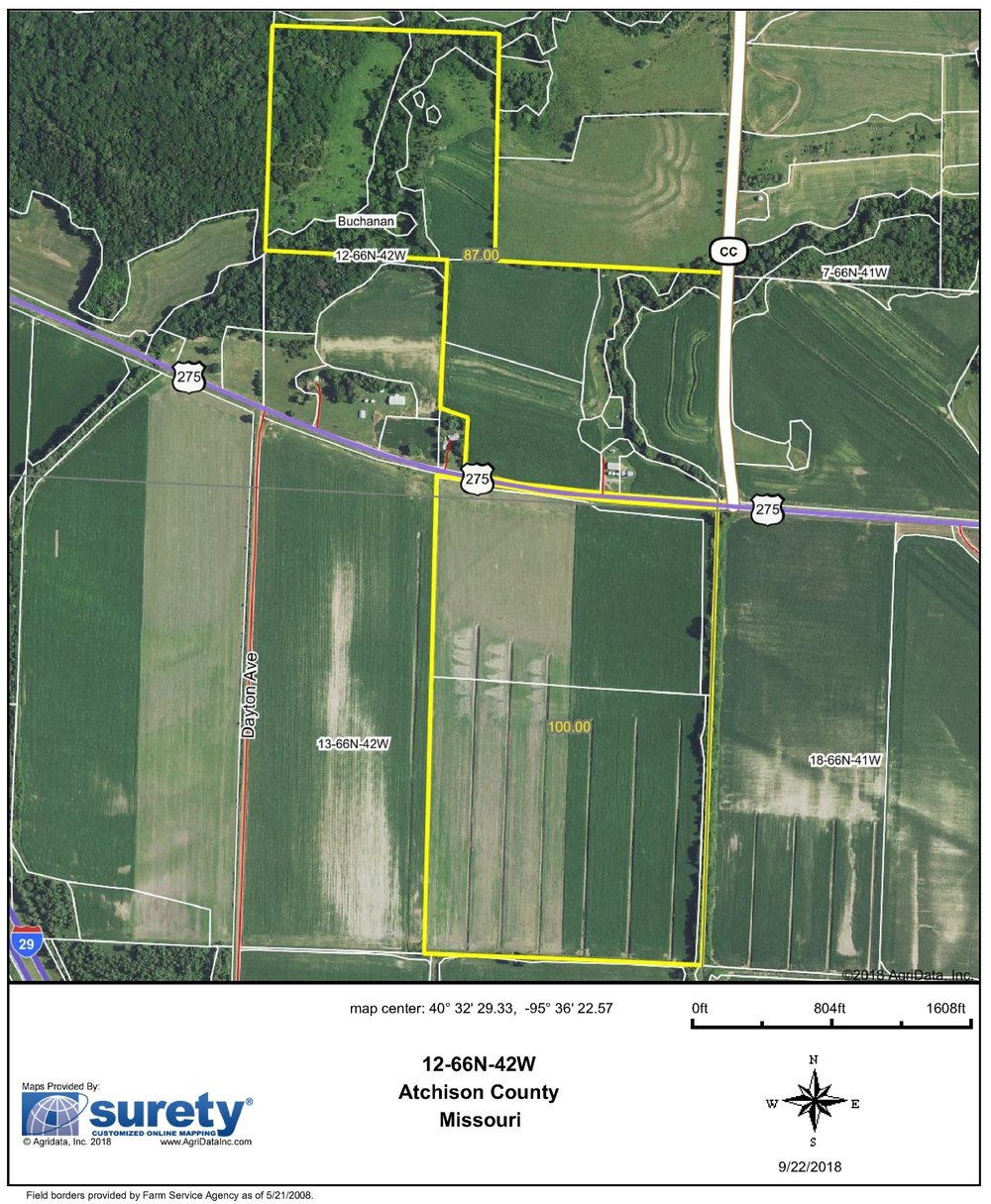 FSA Map: 187 Farm Acres