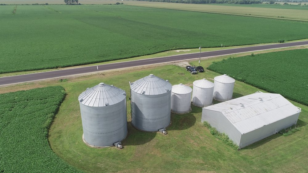 View of Grain Bins North of Highway 275 (July 23, 2018)