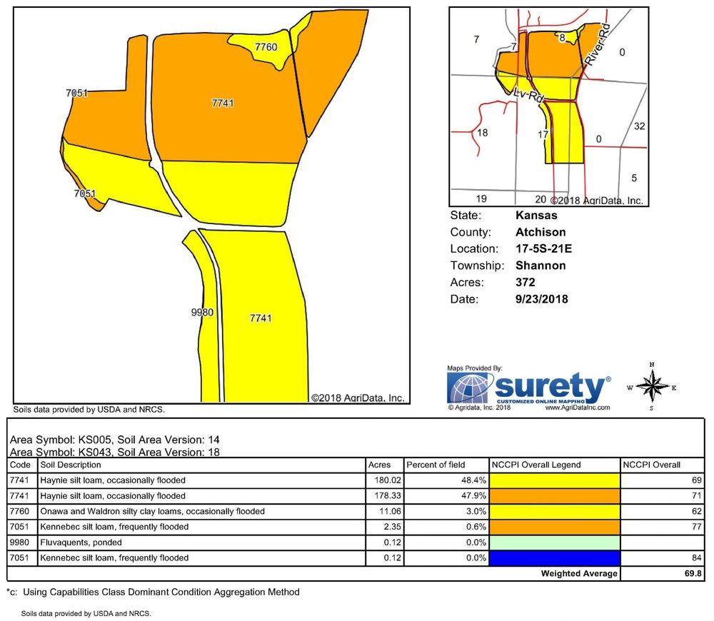 Soil Map: 372 Crop Acres