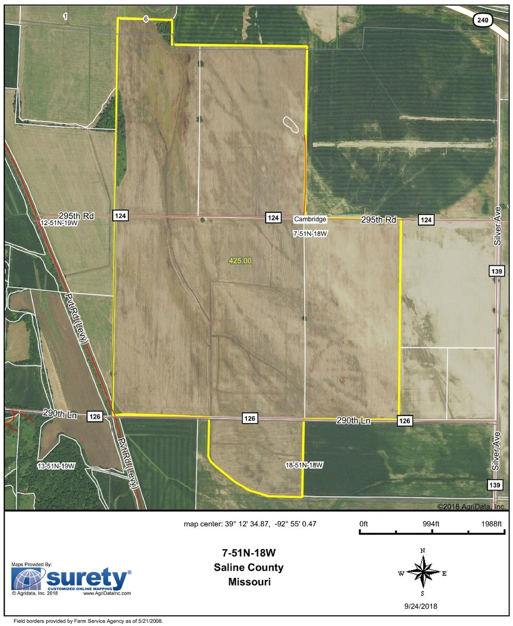 FSA Map: 425 Farm Acres