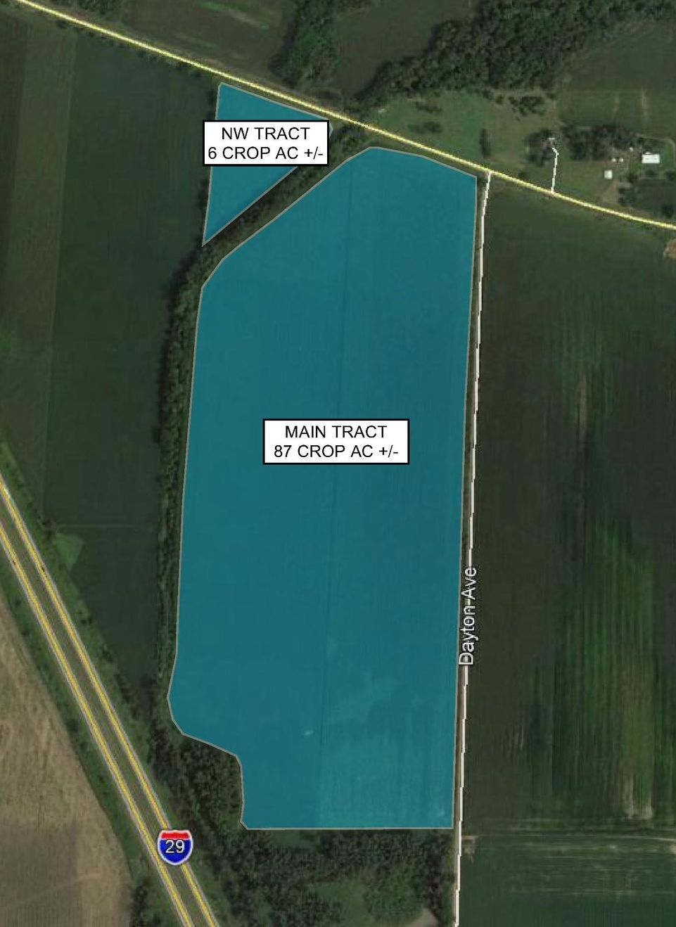 Tract Map: 93 Crop Acres