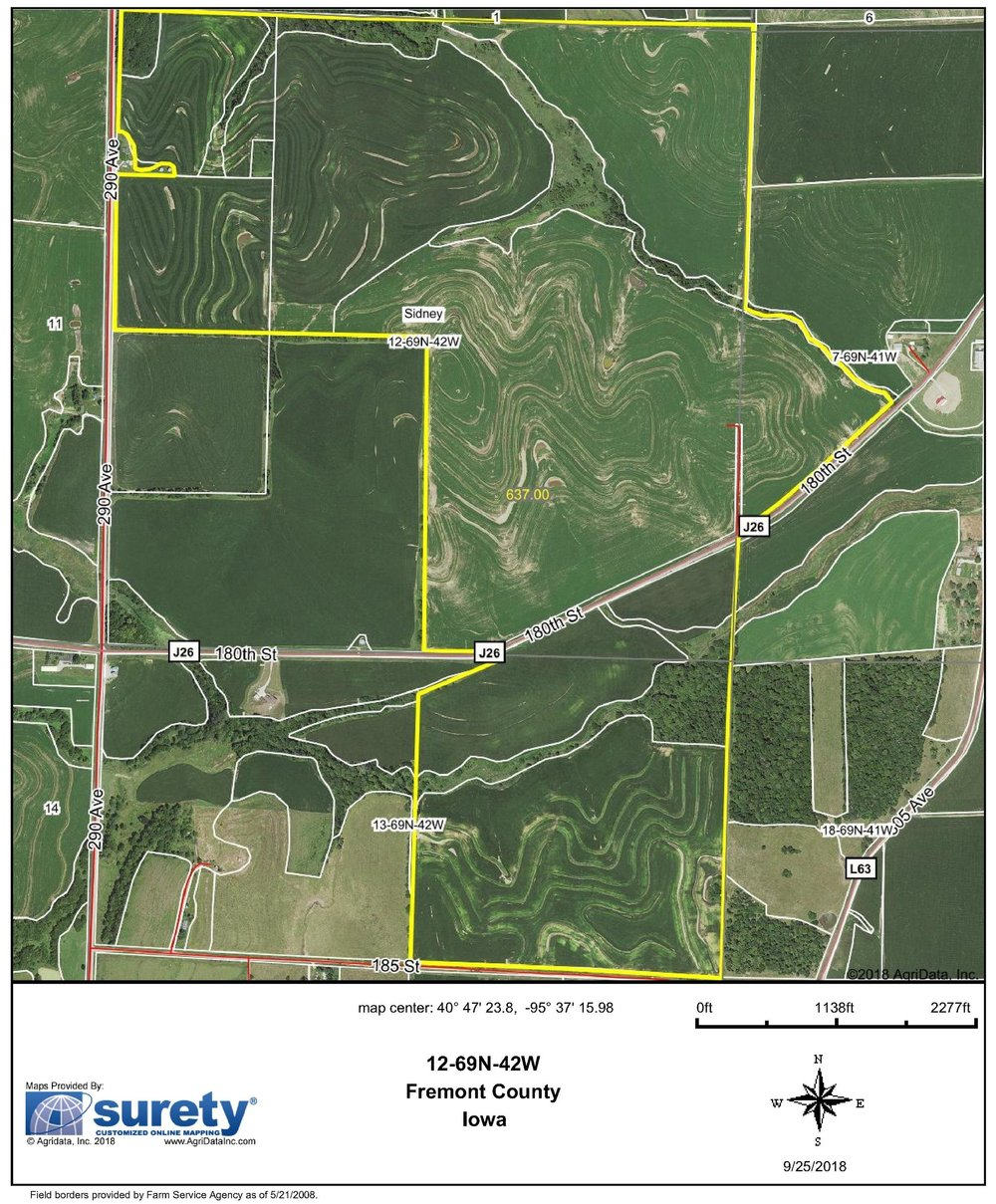 FSA Map: 637 Farm Acres