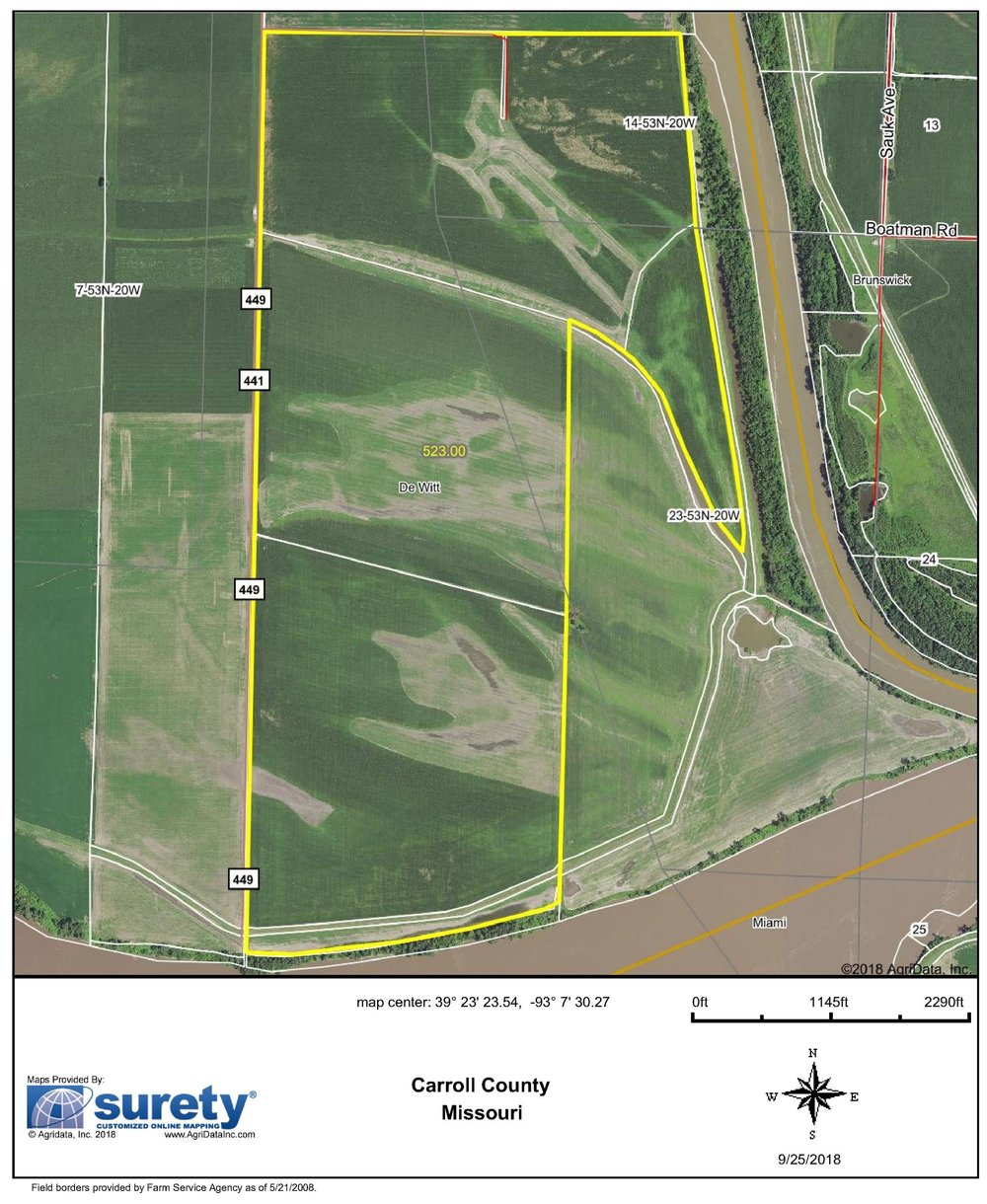 FSA Map: 523 Farm Acres