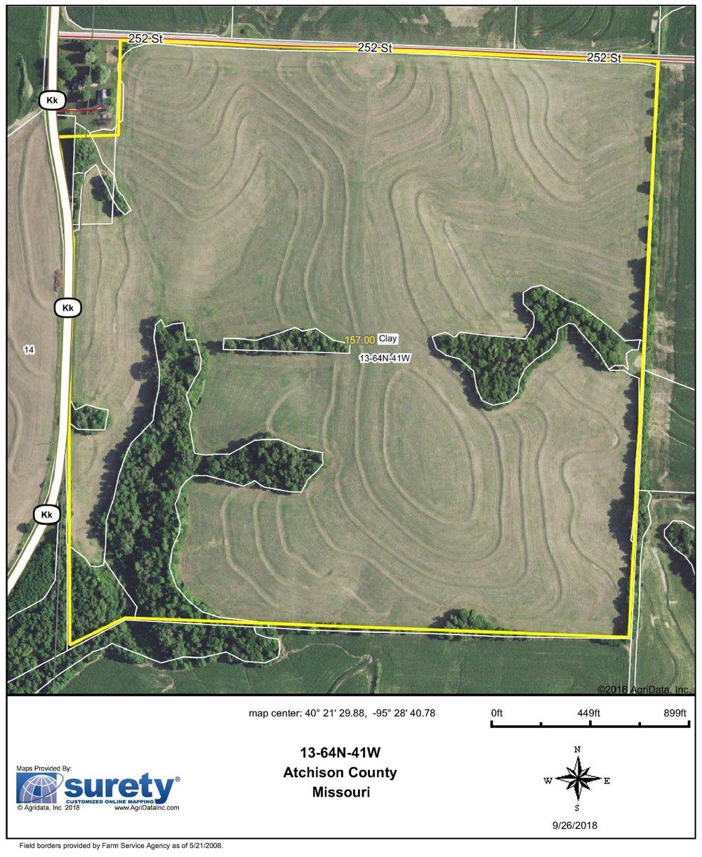 FSA Map: 157 Farm Acres