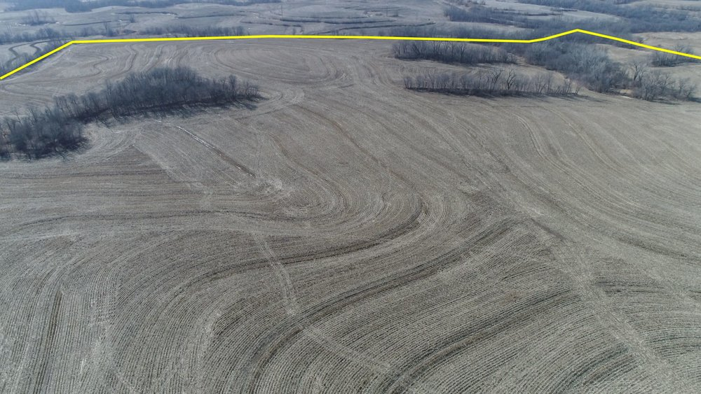 Looking South at Field After Corn Harvest (February 16, 2018)
