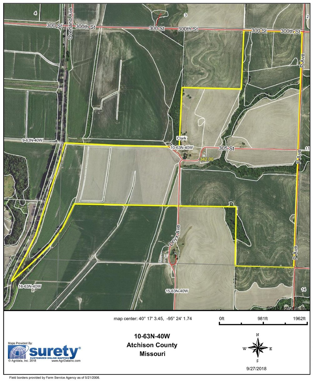 FSA Map: 342 Farm Acres