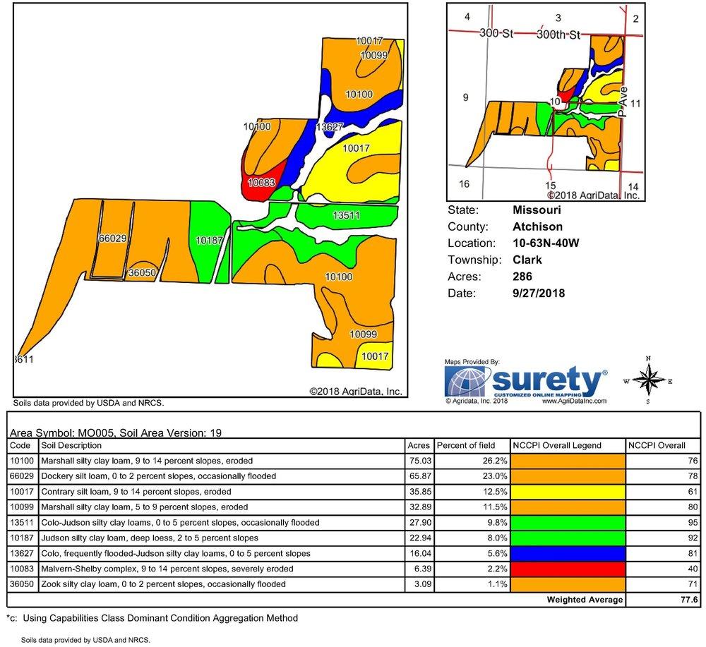 Soil Map: 286 Crop Acres