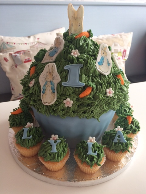 Peter Rabbit Giant Cupcake.JPG