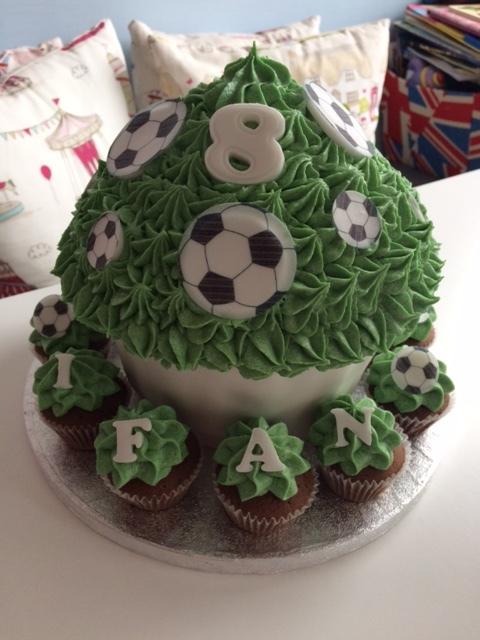 Football Giant Cupcake.JPG