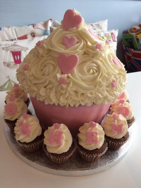 Heart Giant Cupcake.JPG