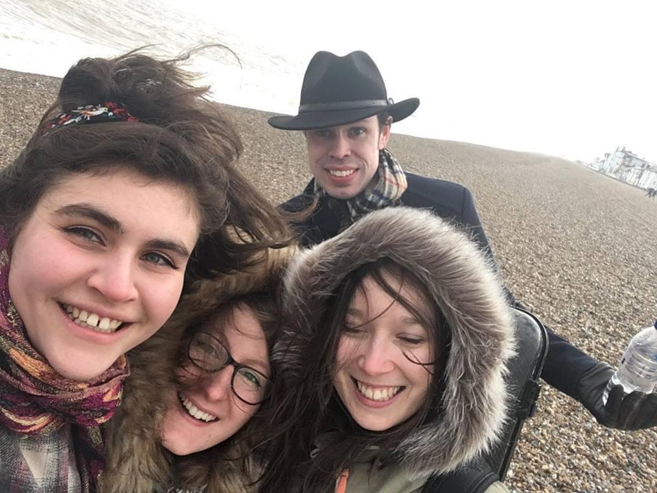 On Aldeburgh beach!