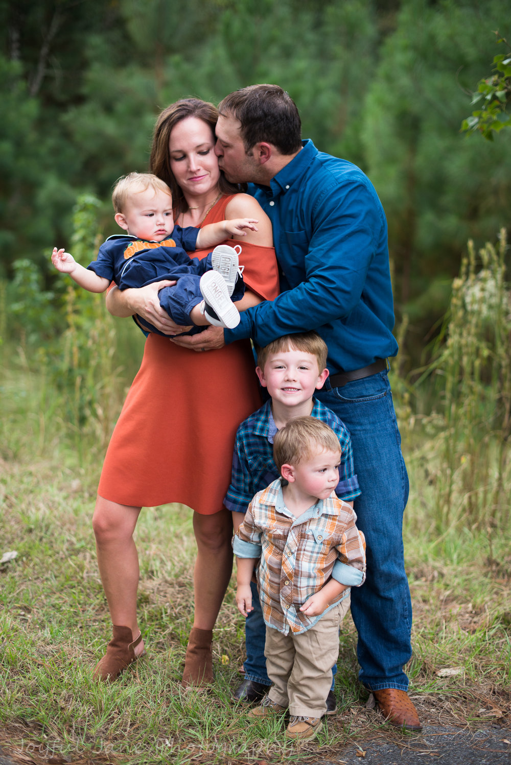 family connection photography, mom + dad + 3 boys hugging