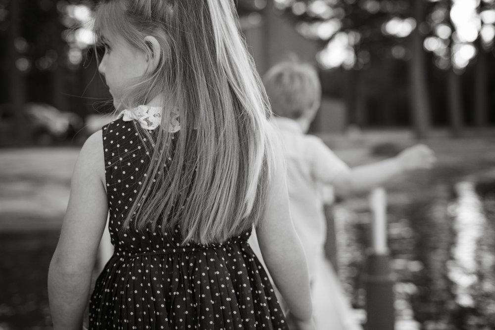 little girl with long hair, Louisiana family photography