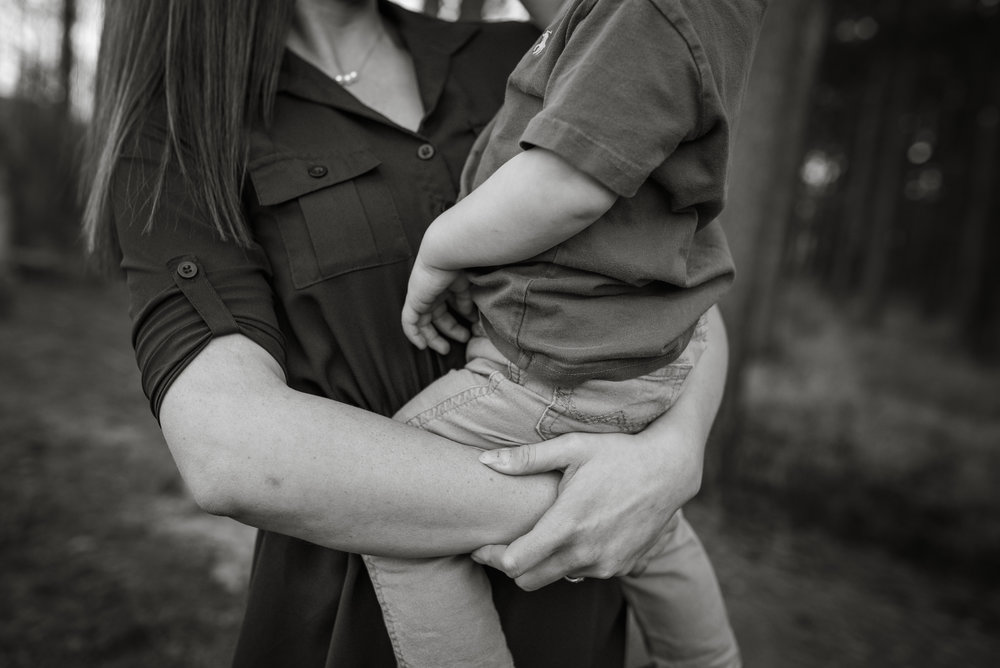 mommy's arms hugging little boy, Louisiana family photography