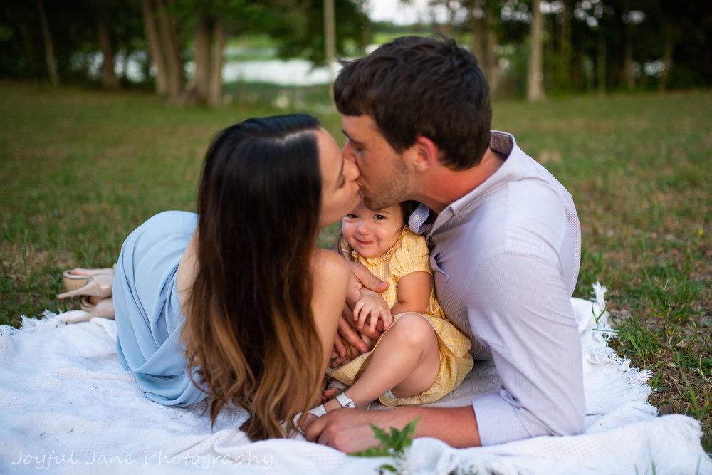 family portrait in open fields