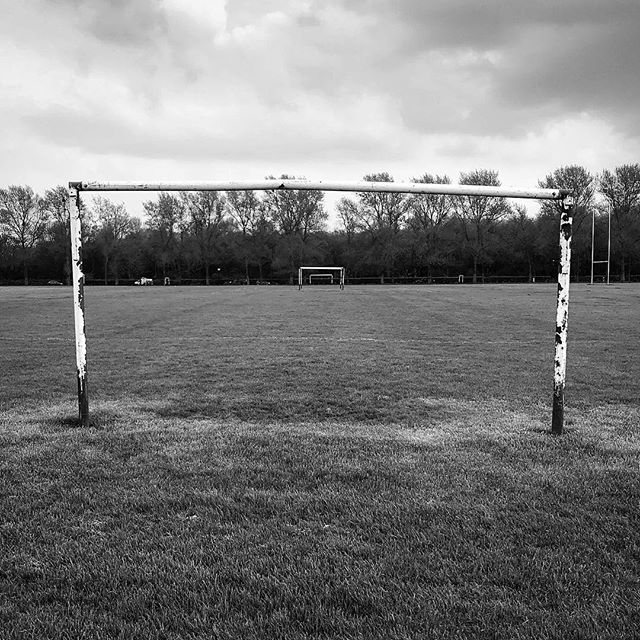 Posts. • • • #themonochromerambler #themonochromelife #blackandwhitephoto #football #eastlondon #hackneymarshes