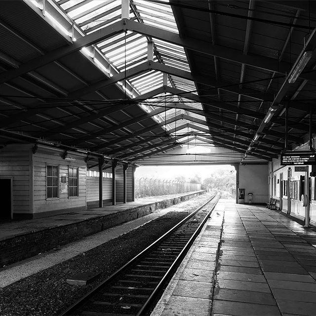 Station. • • • #monochromephotography #monochrome #lifeinblackandwhite #themonochromerambler #blackandwhitephotography #frometrainstation #somersetlife