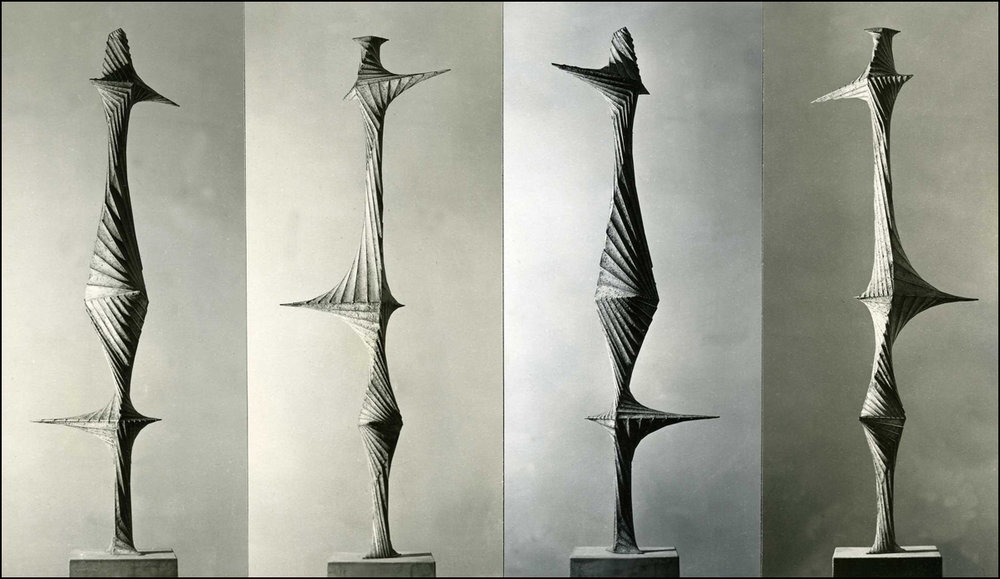 Concrete and stainless steel, 4 views 68 inches 1953.jpg