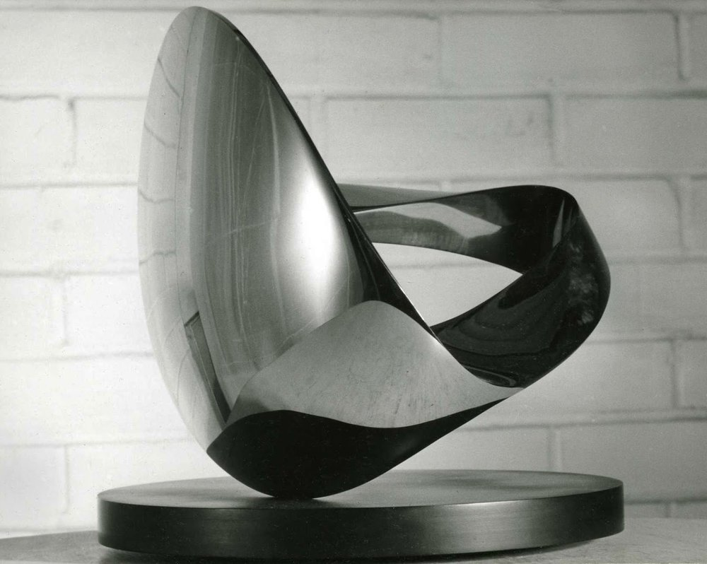 TRANSITORY FORM, wrought stainless steel 9 inches tall, High Museum of Atlanta, GA 1960.jpg