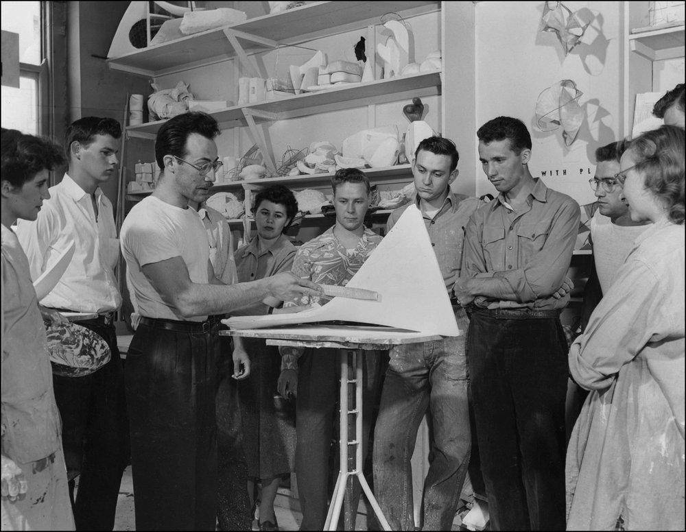 Teaching at Bradley University Illinois - 1949