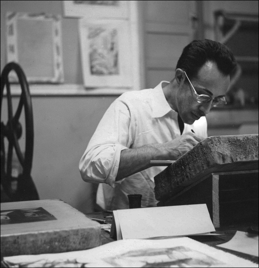Working on a Lithographic Stone - 1950
