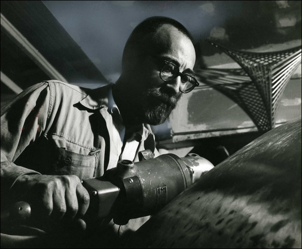 Grinding the Welded Edges of Sculpture - 1961