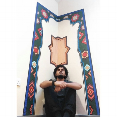 Modern Middle Eastern Geometric Mehrab - Prayer rooms at Peterborough City Hospital, 2016