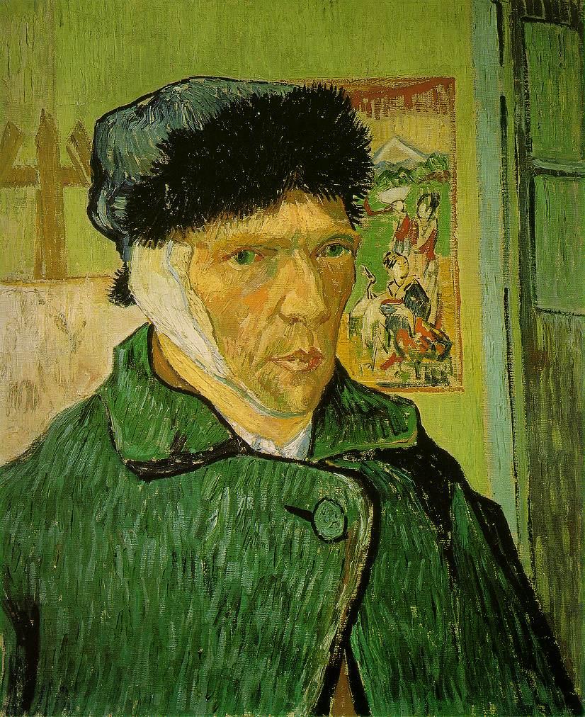 Self-Portrait with Bandaged Ear -  Vincent Van Gogh (1889)