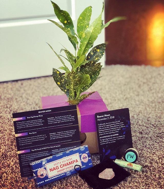 I've tried so many subscription boxes and truly...they all fall flat for me. The goddess inside of me tho?  She is loving Lunarly! Rituals and crystals and intentions? Count 👏 me 👏 IN!  November's box did not disappoint and that blue box took me waaaaaaaaay back when 💨  Do you have a subscription box you love?? Spill it below and share!! • #lunarlybox #woowoo #spiritjunkie #crystals #newmoon #ritual #intention #manifest #witchy #momlife #subscriptionbox #youvegotmail
