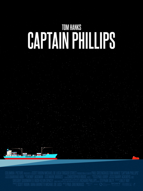 """In April 2009, the U.S. containership Maersk Alabama sails toward its destination on a day that seems like any other. Suddenly, Somali pirates race toward the vessel, climb aboard and take everyone hostage. The captain of the ship, Richard Phillips (Tom Hanks), looks to protect his crew from the hostile invaders, and their leader, Muse (Barkhad Abdi)."""