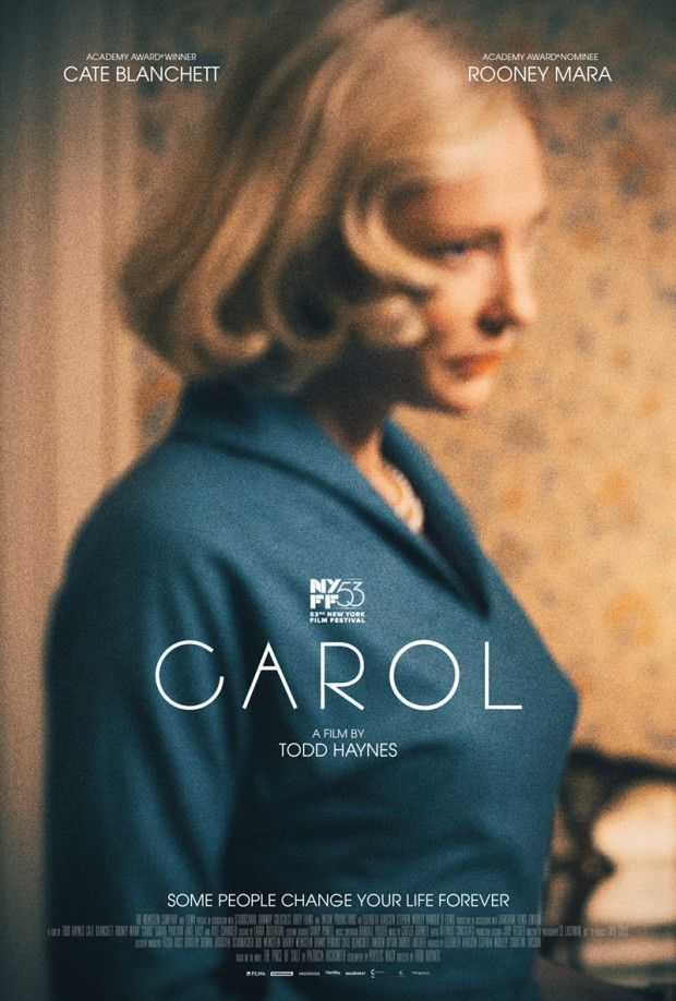 """Therese Belivet (Rooney Mara) spots the beautiful, elegant Carol (Cate Blanchett) perusing the doll displays in a 1950s Manhattan department store. The two women develop a fast bond that becomes a love with complicated consequences."""