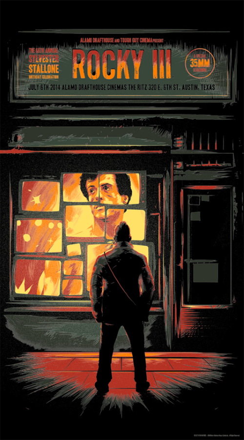 "Art by Matt Taylor    ""Having become the world heavyweight champion, former working-class boxer Rocky Balboa (Sylvester Stallone) is rich and famous beyond his wildest dreams, which has made him lazy and overconfident. He loses all hope after a tragedy and turns to Apollo Creed (Carl Weathers), for help. Rocky struggles to get his old fire back."""