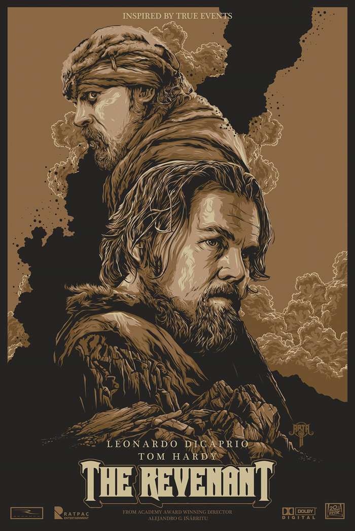 Artwork by Arta Ji  In an expedition of the uncharted American wilderness, legendary explorer Hugh Glass (Leonardo DiCaprio) is brutally attacked by a bear and left for dead by members of his own hunting team. In a quest to survive, Glass endures unimaginable grief as well as the betrayal