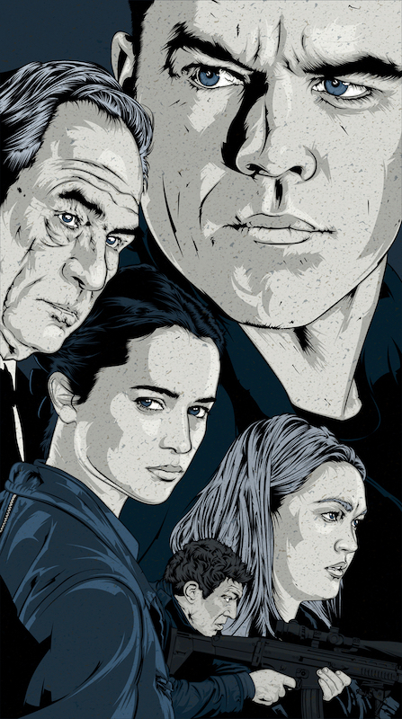"Art by Craniodsgn    ""It's been 10 years since Jason Bourne (Matt Damon) walked away from the agency that trained him to become a deadly weapon. Hoping to draw him out of the shadows, CIA director Robert Dewey assigns hacker and counterinsurgency expert Heather Lee to find him. Lee suspects that former operative Nicky Parsons is also looking for him. As she begins tracking the duo, Bourne finds himself back in action battling a sinister network that utilizes terror and technology to maintain unchecked power."""