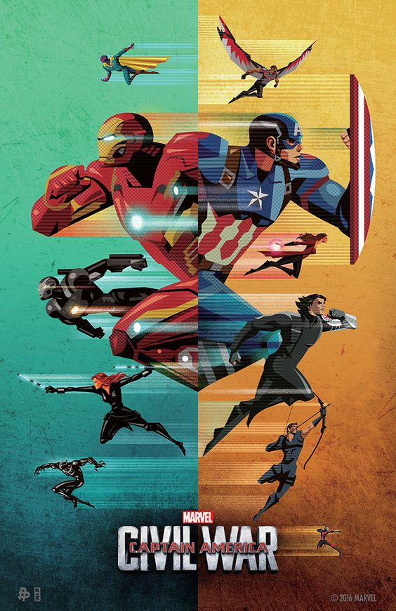 "Art by Unknown ""Political pressure mounts to install a system of accountability when the actions of the Avengers lead to collateral damage. The new status quo deeply divides members of the team. Captain America (Chris Evans) believes superheroes should remain free to defend humanity without government interference. Iron Man (Robert Downey Jr.) sharply disagrees and supports oversight."""